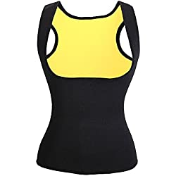 Faja Reductora Mujer Camisetas Sauna Adelgazantes para Mujer Chaleco de Neopreno Corset para Sudoración, Quema Grasa, Faja Abdomen, Tamaño S-3XL/(EU)34-44