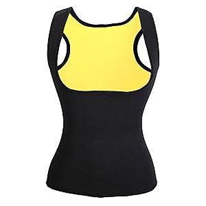 Canotta Fitness da Donna Sauna, Hot Effetto Snellente e Dimagrante Silhouette, Canotta Donna Sportiv in Neoprene (M M (70,65,80,52))