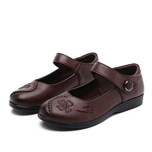 Asakuchi chaussures femme/Maman et chaussures de fond mou/Chaussures de femmes d'âge mûr/Chaussures de travail B