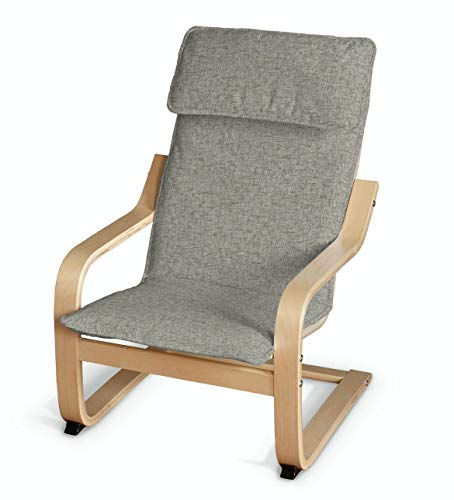 Dekoria Poäng Kissen für den Kindersessel Sesselhusse passend für IKEA Modell Klappsta grau