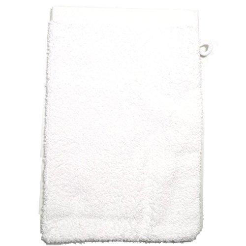 Gant de toilette en éponge-blanc - 500 g/m2 gant de toilette 15 x 21 cm