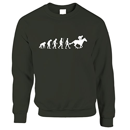 Tim And Ted Sport Unisex-Pullover Evolution of Reiten Reit Green X-Small