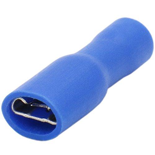 heschen weiblich Schnell Trennt, Vinyl vollisoliert 4,8x 0,5mm Kabel Terminal für 1,5-2,5mm² (16-14AWG) blau 100Stück 187 Tab Terminals