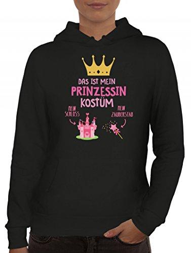 ShirtStreet Fasching Karneval Damen Kapuzenpullover mit Das ist mein Prinzessin Kostüm 1 Motiv, Größe: ()