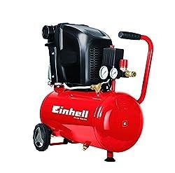 Einhell Kompressor TE-AC 230/24/8 (1.500 W, max. 8 bar, 24 l-Tank, Ölschmierung, Rückschlag-/Sicherheitsventil, 2 Manometer + Schnellkupplung)