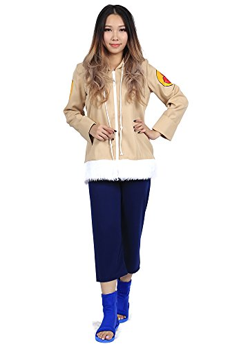 De-Cos Cosplay Costume Hidden Leaf Village Genin Hyuga Hinata Outfit Set V1