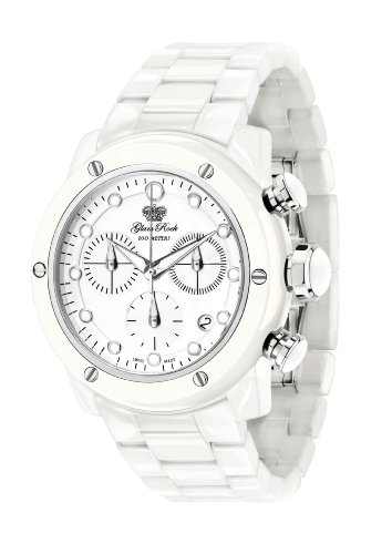 Glam Rock Women's GR50104 Aqua Rock Chronograph White Dial Ceramic Watch