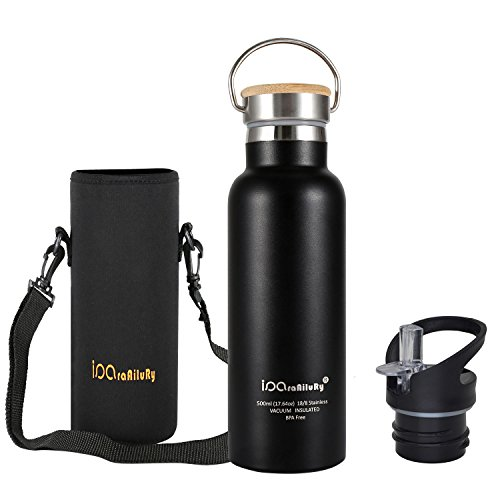 stainless-steel-thermos-flask-with-bamboo-cap-2-drinking-caps-iparaailury-bpa-free-water-bottle-500-