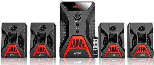 Intex IT-Rock SUFB 4.1 Wooden Subwoofer Multimedia Speaker with Bluetooth/USB/FM/AUX
