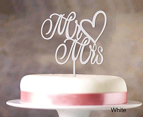 """""""Mr & Mrs"""" Hochzeitstorte-Deckel Custom Spiegel Cake Topper Color Option verfügbar 5 """"-6"""" Zoll breit"""