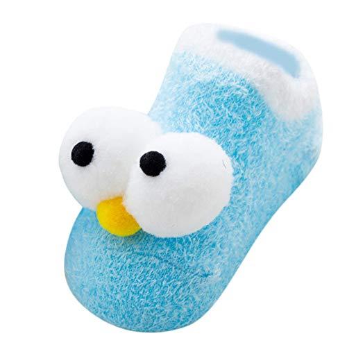 1 Paare Kinder Karikatur Socken, Quaan Winter Baumwolle Lange Augen Socken zum Baby Jungs Mädchen Kleinkind Kinder