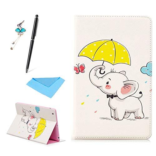 MeetLove Hülle für iPad Mini 1 2 3, Ultra Leicht Dünn PU Leder Etui mit Halterung Flip Fall Schutzhülle Tablet Ledertasche mit Kartensteckplatz,Umbrella icon -