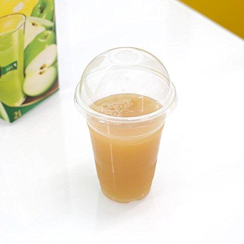 Drink Boba (attachmenttou 20 Pack 400 ML Bequeme Paket Kunststoff Klar Tassen mit Deckel für Kaltgetränke Eiskaffee Bubble Boba Tee)