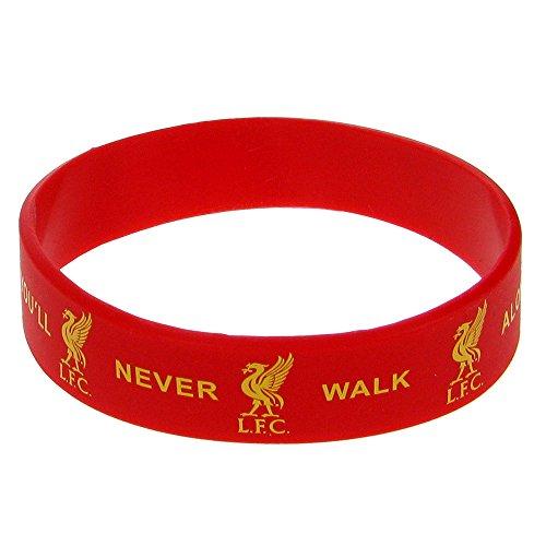 """Oficial LIVERPOOL FC """"YNWA"""" pulsera de goma de color rojo"""