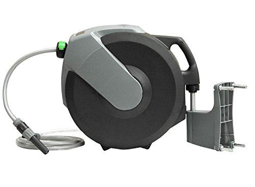 Automatische Schlauchtrommel YERD / Schlauch-Aufroller inkl. 1/2 Zoll Wasserschlauch und System-Gardena kompatiblen Anschlüssen (20 Meter)