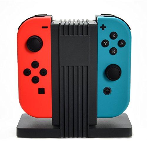 AGPtek Estación de Carga 4 en 1 para mandos de Nintendo Switch, Dock