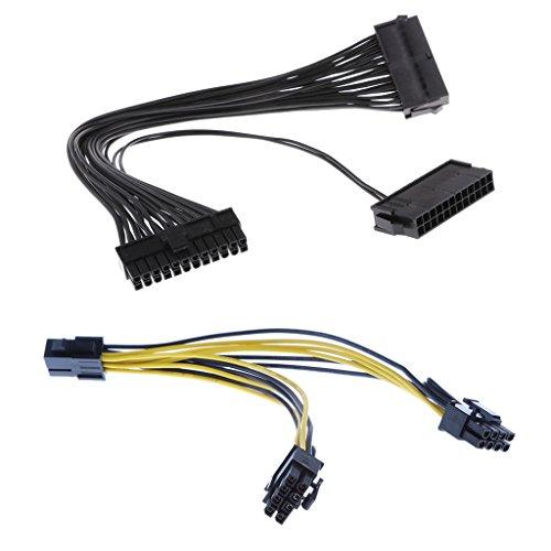 Vga-mann-zu-frau-kabel (Almencla 24pin Männlich Zu Weiblich Dual PSU ATX Bergbau Kabel \u0026 6pin Zu 2X PCIE CPU Kabel)