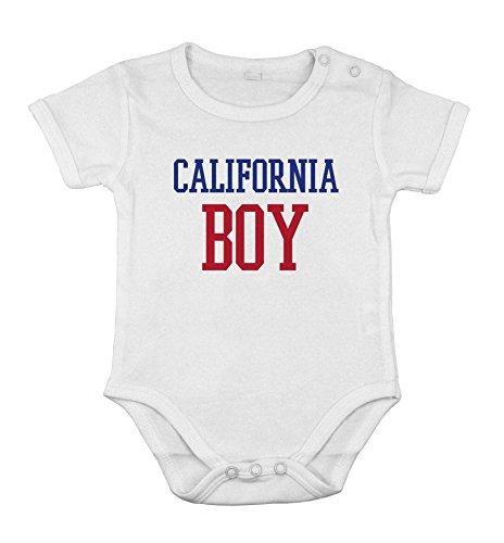 Del cotone del bambino neonato Body breve Tutina california ragazzo regalo Stato USA unisex