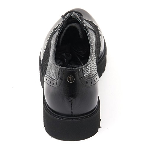 B8555 Chaussure Femme Anglaise Trussardi Jeans Chaussures Chaussure Noire Femme Noir