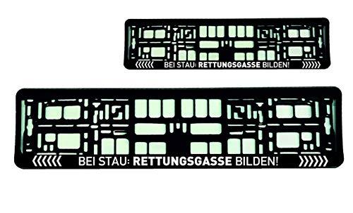 2x Kennzeichenhalter (Weiß) Nummerschildhalter