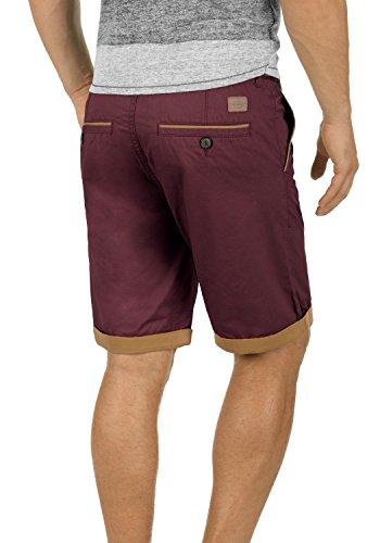 BLEND Neji Herren Shorts kurze Hose Basic-Shorts mit Gürtel aus 100% Baumwolle  Wine ...