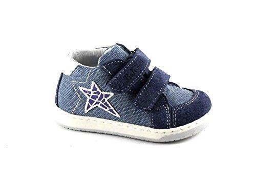BALOCCHI 474282 19/22 MINI blu jeans scarpe bambino mid sneaker strappi 20