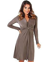 KRISP® Femme Robe Drapée elgante
