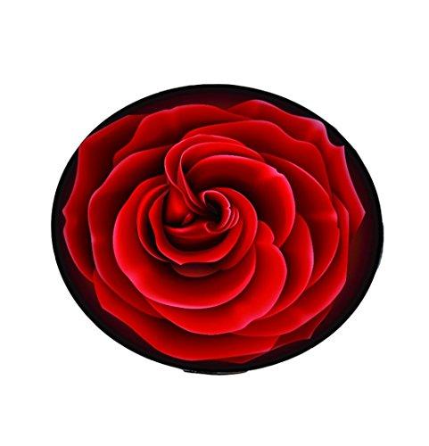 European Style Creative Roses Runde Das Wohnzimmer Teppich Pad Korb Swivel Hocker Computer Stuhl Kissen Cute Schlafzimmer Bett Decke Teppich Rot (größe : Diameter 100cm) (Hocker Swivel Küche)