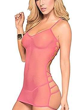 [Patrocinado]☀️☀️PANPANY Lenceria PANY Lencería Ropa Interior Señoras seducción Sexy Volver Sex Gauze Underwear Conjunto de...