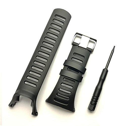 Cinturino di ricambio per Suunto Ambit 3 PEAK / Ambit 2 / 1, in morbida gomma nera, con attrezzo incluso