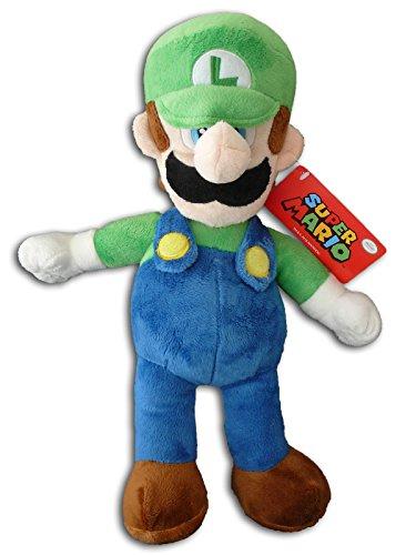 Luigi 36cm Super Mario Bros Muñeco Peluche Hermano Fontanero Menor Verde Grande Videojuego Nintendo Chico Original Nuevo Super Suave Gran Calidad Serie TV Juego