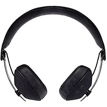 House of Marley Rise BT – Bluetooth Wireless Headphones, Foldable On-Ear Design Earphones w/ Stash Bag, Premium Sound 50mm Drivers, Integrated Mic, USB Charging, 10hrs Battery Life - Black