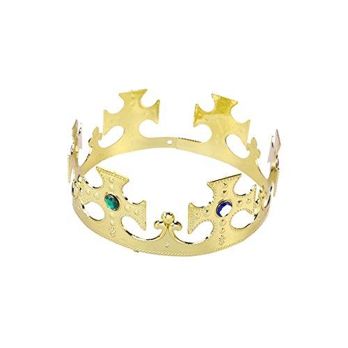 Amosfun Corona di plastica Compleanno Halloween Performance Hairband per bambini Adulti 1 Pz (Principe d'oro)