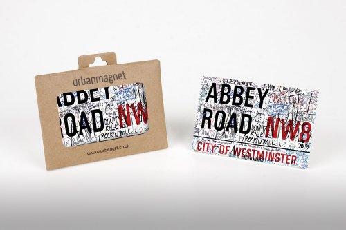 London Abbey Road Sign photo frigorifero