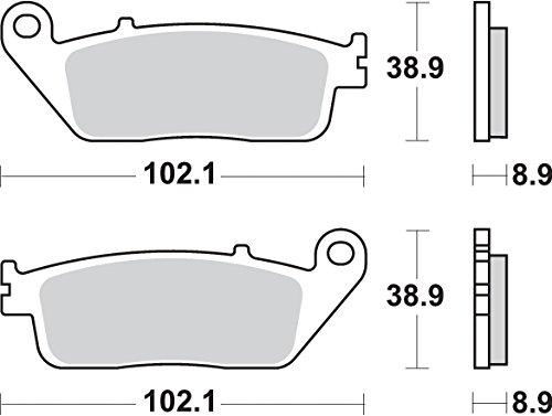 SBS-Pastiglia Freno Honda Silver Wing 400[P184Ms]