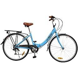 """ECOSMO 26""""Nueva plegable-bolsa de la compra (ciudad bicicleta bicicleta 7SP Shimano 26ALF08B"""
