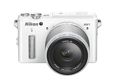 Nikon 1 AW1 Systemkamera (14,2 Megapixel, 7,6 cm (3 Zoll) TFT-Display, Full HD, HDMI, wasserdicht) Kit inkl. 11-27,5mm Objektiv weiß