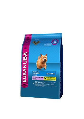 Eukanuba Premium Hundefutter für ältere Hunde kleiner Rassen ab 7 Jahre, Trockenfutter mit Huhn (1x1 kg)