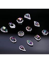 Sindy 5New ovale Diamond Glitter Paillettes Strass en alliage Nail Art Décorations à Ongles Beauté produits Fournitures