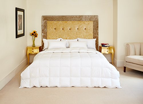 Sk Naturals (The Natural Bedding Company Canadian White Goose Feather and Down Duvet - Super King - 10.5 tog)