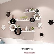 ZWL Bunte Sechskant Regal Kombination Schlafzimmer Wanddekoration  Wandregal, Kreativ Home Wanddekoration Wand Hängende