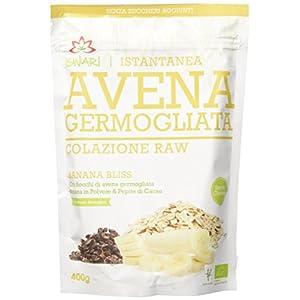 Iswari Avena Germogliata Banana Bliss - Pacco da 1 x 400 gr - Totale: 400 gr