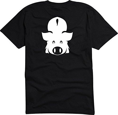 Black Dragon - T-Shirt Herren - JDM / Die cut - Geiles Schwein - DU Sau Schwarz