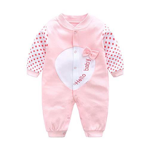 Baby Overall Unisex Strampler Pyjama Baumwolle Schlafanzug Langarm Body, 0-3 Monate (Pyjama-3 Monate)