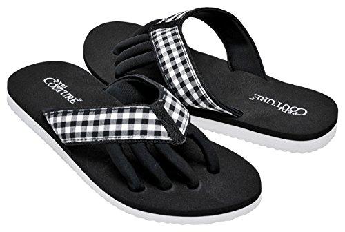 Pedi Couture SPA Pediküre Sandale Schwarz/Weiss-Optik, Größe SM