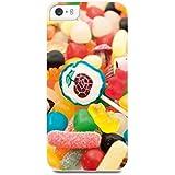 Muvit MUPRBKCIP5S3048 Coque pour iPhone 5S Motif Bonbons Multicolore Blanc