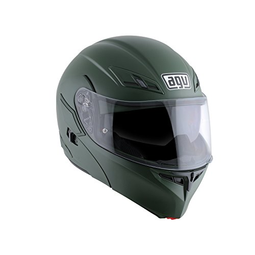 AGV Casco Moto Compact ST E2205 Solid plk, Matt Military Green, L