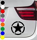 wDesigns 2er Set Autoaufkleber US ARMY STERN STAR Aufkleber Sticker Decal BMW AUDI BENZ