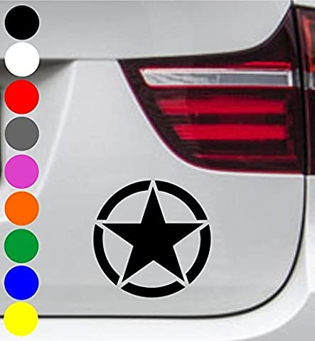 wDesigns 2er Set Autoaufkleber US ARMY STERN STAR Aufkleber Sticker Decal BMW AUDI BENZ