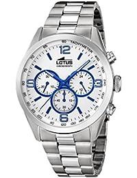 Lotus Watches Reloj Cronógrafo para Hombre de Cuarzo con Correa en Acero  Inoxidable 18152 3 7c4b641d4f9e